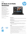 HP ZBook 15u G2 Mobile Workstation Datasheet (AMS English)
