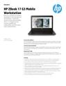 AMS HP ZBook 17 G3 Mobile Workstation Datasheet