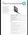 AMS HP ZBook 15u G5 Mobile Workstation Datasheet