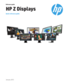 HP Z Displays Product Comparison