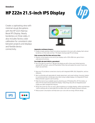 HP Z22n 21.5-inch IPS display(English(AMS))