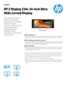 HP Z Display Z34c 34-inch Ultra Wide Curved Display(English(AMS))Update