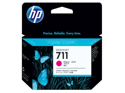 HP 711 3-pack 29-ml Magenta DesignJet Ink Cartridges