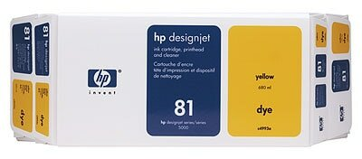 HP 81 Value Pack 680-ml Yellow Dye Ink Cartridge and Printhead
