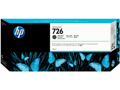 HP 726 300-ml Matte Black DesignJet Ink Cartridge