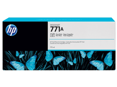 HP 771A 775-ml Photo Black DesignJet Ink Cartridge