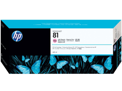 HP 81 680-ml Light Magenta DesignJet Dye Ink Cartridge