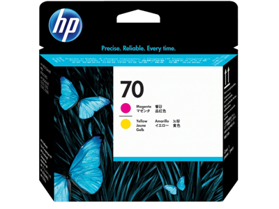 HP 70 Magenta and Yellow DesignJet Printhead