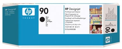 HP 90 Black DesignJet Printhead and Printhead Cleaner