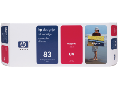 HP 83 680-ml Magenta DesignJet UV Ink Cartridge
