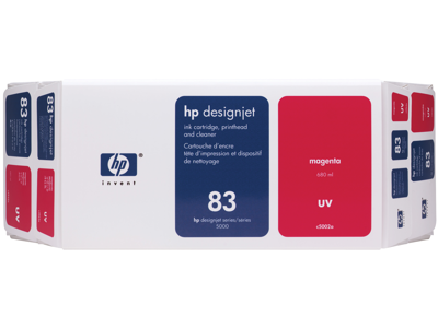 HP 83 Value Pack 680-ml Magenta DesignJet UV Ink Cartridge and Printhead