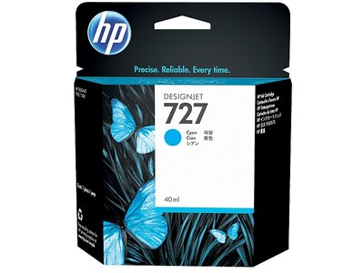 HP 727 40-ml Cyan DesignJet Ink Cartridge