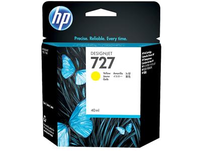HP 727 40-ml Yellow DesignJet Ink Cartridge