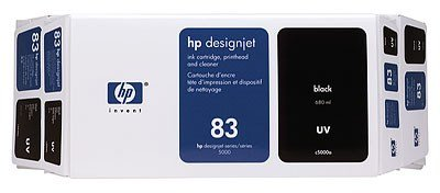 HP 83 Value Pack 680-ml Black DesignJet UV Ink Cartridge and Printhead
