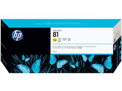 HP 81 680-ml Yellow DesignJet Dye Ink Cartridge