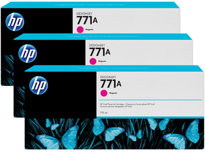 HP 771A 3-pack 775-ml Magenta DesignJet Ink Cartridges