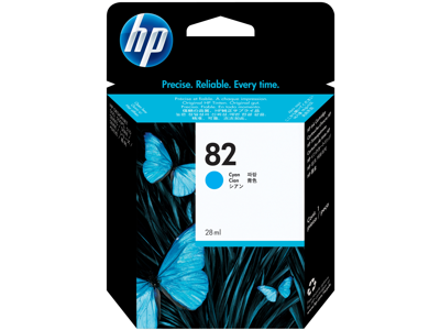 HP 82 28-ml Cyan DesignJet Ink Cartridge