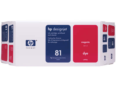 HP 81 Value Pack 680-ml Magenta DesignJet Dye Ink Cartridge and Printhead