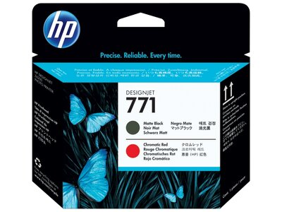 HP 771 Matte Black/Chromatic Red DesignJet Printhead