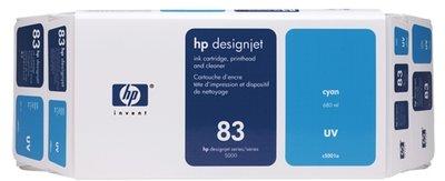 HP 83 Value Pack 680-ml Cyan DesignJet UV Ink Cartridge and Printhead