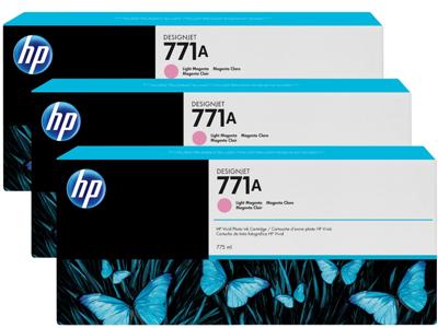 HP 771A 3-pack 775-ml Light Magenta DesignJet Ink Cartridges