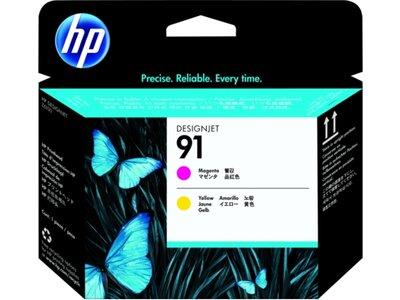 HP 91 Value Pack 775-ml Magenta/Yellow DesignJet Ink Cartridges/Printhead