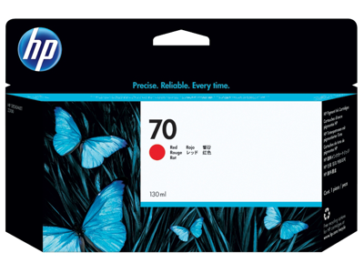 HP 70 130-ml Red DesignJet Ink Cartridge