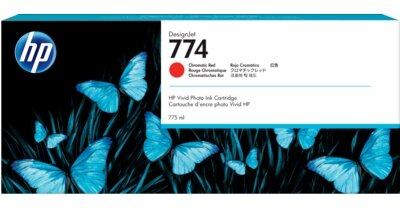 HP 774 775-ml Chromatic Red DesignJet Ink Cartridge