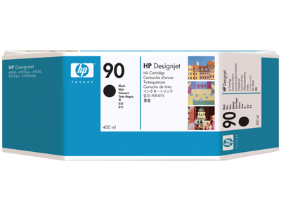 HP 90 400-ml Black DesignJet Ink Cartridge
