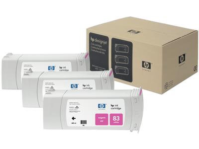 HP 83 3-pack 680-ml Magenta DesignJet UV Ink Cartridges