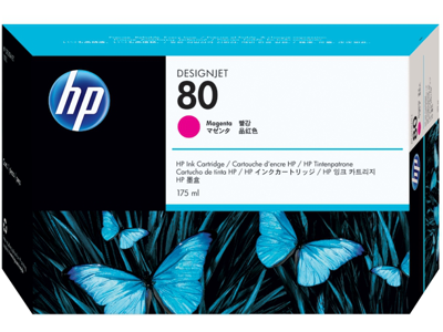 HP 80 175-ml Magenta DesignJet Ink Cartridge