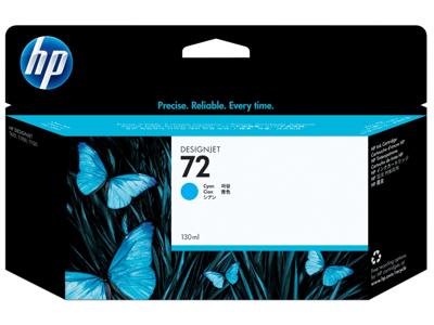 HP 72 130-ml Cyan DesignJet Ink Cartridge