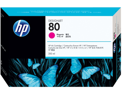 HP 80 350-ml Magenta DesignJet Ink Cartridge