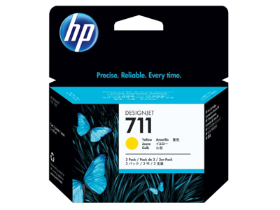 HP 711 3-pack 29-ml Yellow DesignJet Ink Cartridges