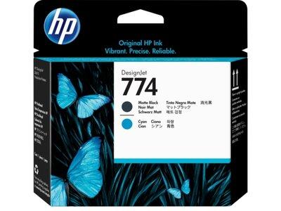 HP 774 Matte Black/Cyan DesignJet Printhead