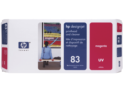 HP 83 Magenta DesignJet UV Printhead and Printhead Cleaner