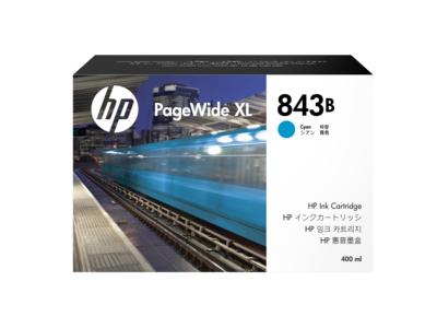 HP 843B 400-ml Cyan PageWide XL Ink Cartridge