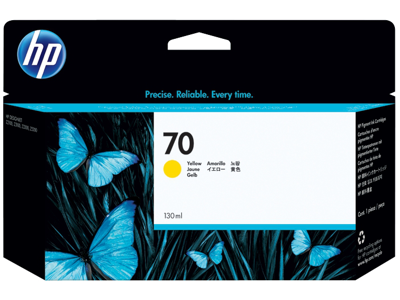 HP 70 130-ml Yellow DesignJet Ink Cartridge