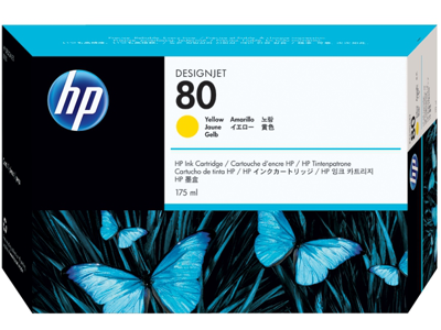 HP 80 175-ml Yellow DesignJet Ink Cartridge