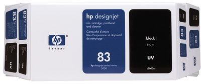 HP 83 Value Pack 680-ml Black DesignJet UV Ink Cartridge and Printhead