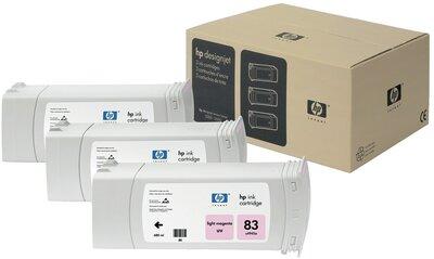HP 83 3-pack 680-ml Light Magenta DesignJet UV Ink Cartridges