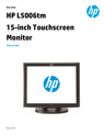 HP L5006tm 15-inch Touchscreen Monitor