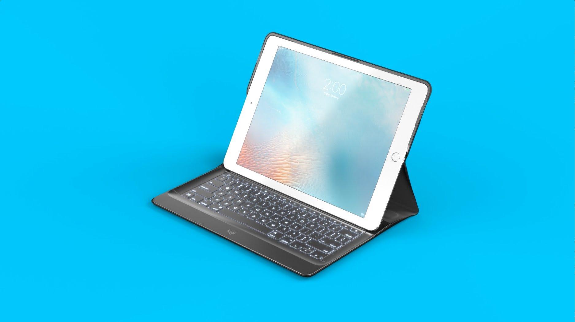 Logitech CREATE keyboard and folio case - US/UK - blue
