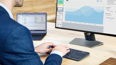 Wireless Touch Keyboard K400 Professional - Graphite - Azerty French