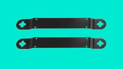 Low-profile speaker brackets