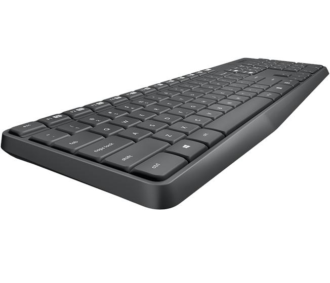 Logitech MK235 - sats med tangentbord och mus - P - Tastatur   Mus set -  Nordisk - Grå d70691ccbd262