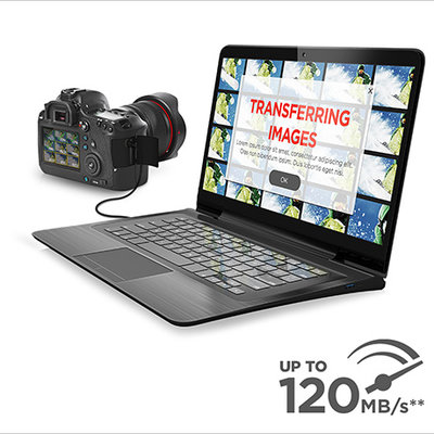 Save Time with Read Speeds of up to 120MB/s