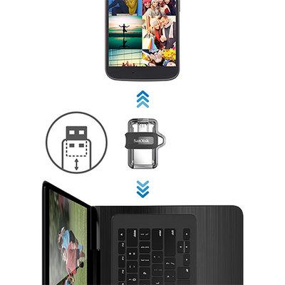 Dual micro-USB and USB 3.0 Connectors