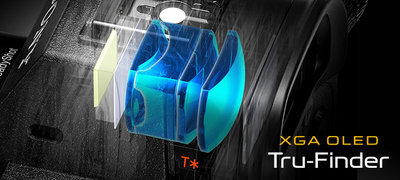 XGA OLED Tru-Finder<sup>™</sup> makes every view a vision