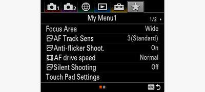 My Menu and new menu interface